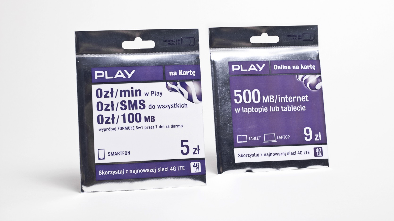 play na karte Innovative packaging system for mobile phone carrier service